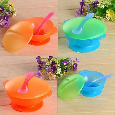New Baby Kids Children Suction Cup Bowl Slip-resistant Tableware Set Sucker Bowl