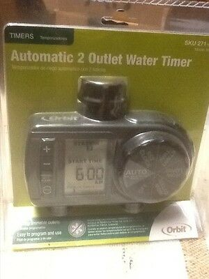 Orbit 2-Outlet Water Timer Automatic Model: 56906 brand new