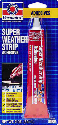 Permatex Weather Strip Adhesive 2oz Tube 80638