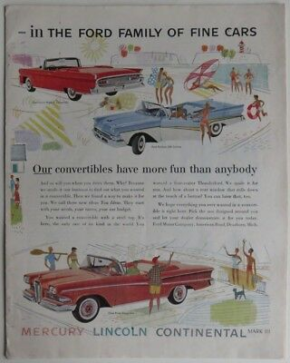 1958 Ford Family Of Cars 10-Page Holiday Magazine Section             (Inv12698)