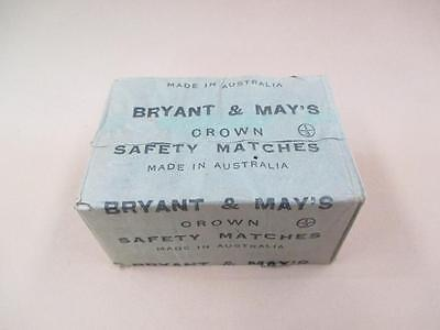 Matches, Bryant and May's, Crown, Safety Matches, Vintage