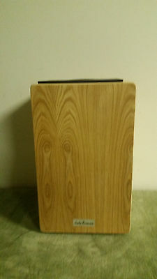 New Aruba Percussion Natural Finish Cajon Drum With Free Gig Bag