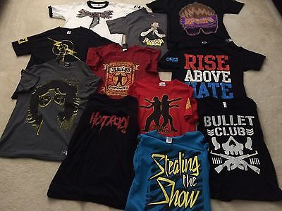 Lot of 11 WWE T-Shirts M/L/XL