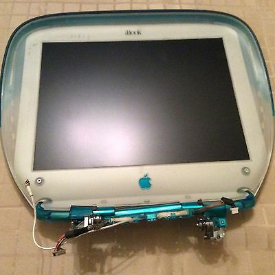 Vintage Apple iBook G3 Clamshell Blueberry LCD Screen & Lid