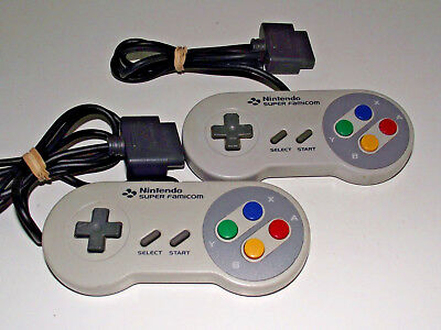 2 X Genuine Super Famicom Nintendo Controller Works Great on Aussie SNES