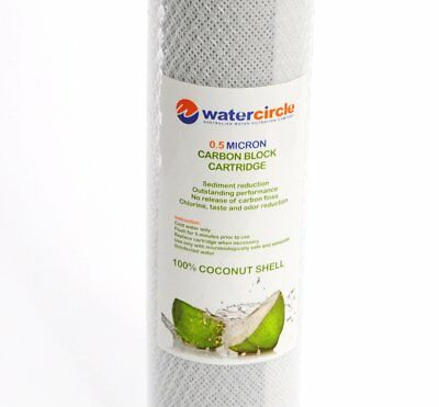 """0.5 micron Activated Coconut Carbon Water Filter Replacement Cartridge 10""""x2.5"""""""