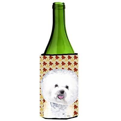 Carolines Treasures Bichon Frise Fall Leaves Portrait Wine Bottle Hugger 24 oz.