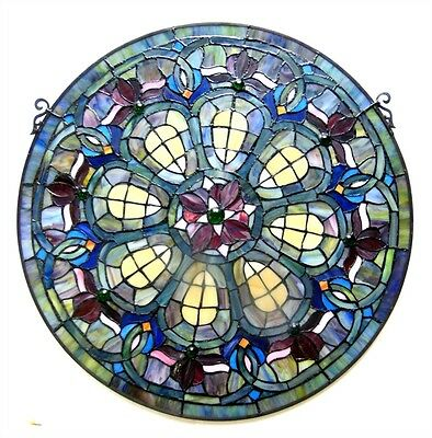 Chloe Lighting CH1P460RV24-GPN Baroque Stained Glass Window Panel