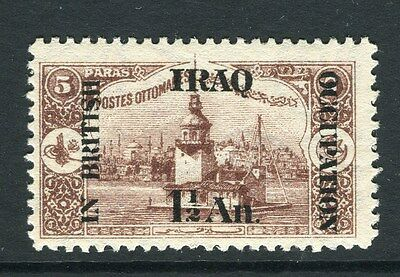 IRAQ;  1918 early BRITISH OCCUPATION issue fine Mint hinged 1.5a. value