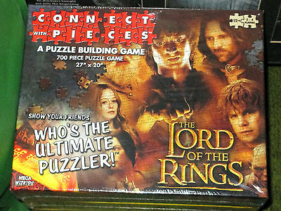 """NECA WIZKIDS ~ The Lord of the Rings 27"""" x 20"""" 700 Piece Puzzle Game - NEW"""
