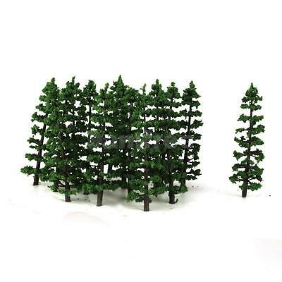 20x HO N Model Fir Tree Train Layout Mountain Forest Diorama Scenery 3.5""