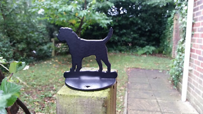 Border Terrier Fence Post Top