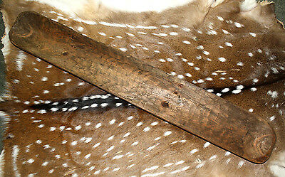 Carved Wooden Dough Bowl Primitive Wood Trencher Tray Rustic Home Decor 39 inch