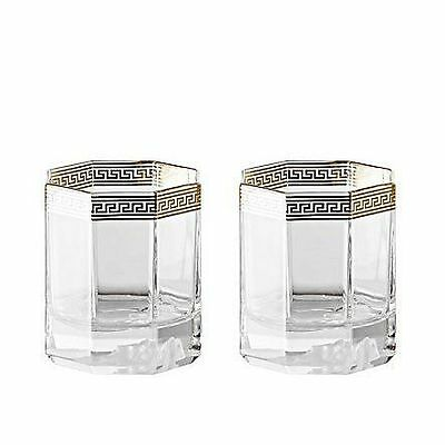 Versace Medusa D'or Whiskey Glass Set of 2