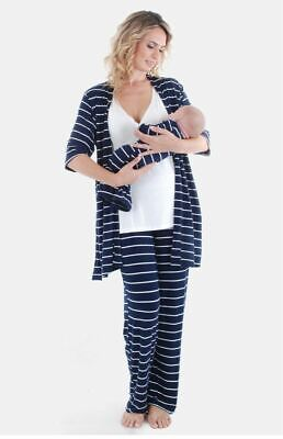 Everly Grey Roxanne During &After 5-Piece Maternity Nursing Sleepwear Pajama Set