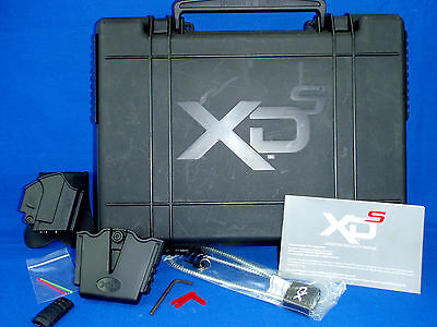 Sprinfield XDs Factory Pistol Box Case with XD Gear Holster, Mag Holder & Manual