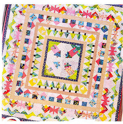 About Town Quilt - pretty pieced medallion style quilt PATTERN - Sew Along