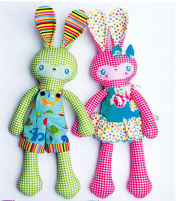 PATTERN - Benny & Boo - cute rabbit softie toy PATTERN - Melly & Me