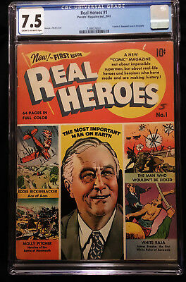 1941 Parent's Magazine Real Heroes #1 CGC 7.5 Franklin D. Roosevelt