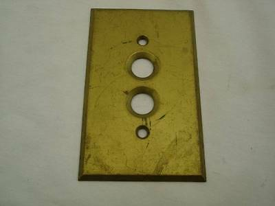 Antique Brass Push Button Switch Cover Electrical Vintage Plate Cover USA #4