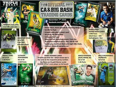 2016/17 Tap N Play CA & BBL Cricket Sealed Box Trading Cards