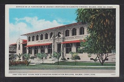 USA 1920's TWO BALBOA CANAL ZONE POSTCARDS PANAMA CANAL & YMCA CLUB UNUSED
