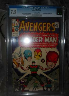 MARVEL Comics AVENGERS 9  CGC 7.5 1964 1St appearance Wonder man high grade