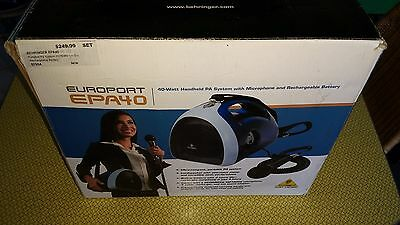 Behringer EUROPORT EPA40 Handheld PA System 40W w/ Microphone & Battery