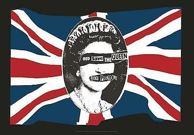 """Sex Pistols Flagge / Fahne """"god Save The Queen"""" Poster Flag Posterflagge"""