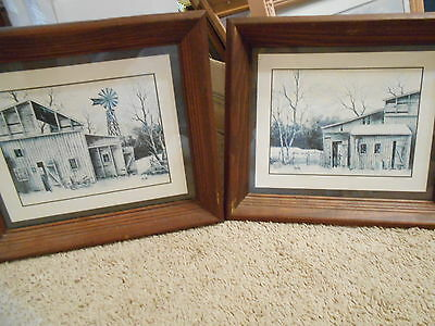 Old Homestead Set of 2 Pictures Vintage Home Interiors  13 x 11""