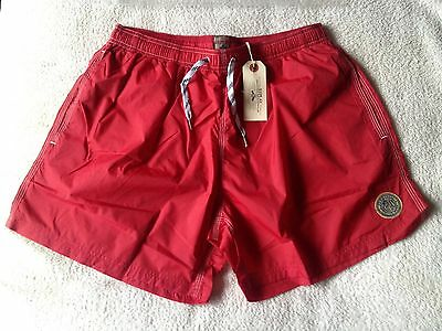 "Replay Basic Mens Swim Shorts In Red Size Large(34""-36""waist) New With Tags"