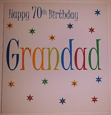 Handmade Happy Birthday Card Dad Grandad Brother Uncle 60 65 70 75 80 85 90