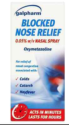 Galpharm Blocked Nose Relief Acts In Minutes Lasts For Hours 15Ml