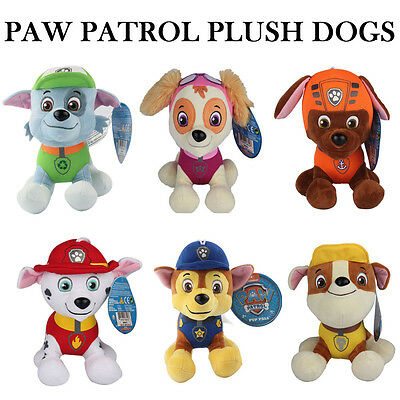 Paw Patrol Plush Dogs Rochy Skye Zuma Marshall Chase Rubble Toys For Kids Gift