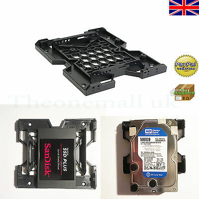 5.25'' to 3.5'' 2.5'' SSD Hard Drive Bay Adapter Holder Tray Screws Black UK