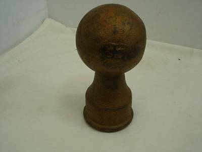Antique Large Flag Pole Topper Cast Iron Finial Architectural Salvage