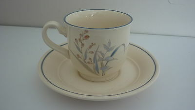 Noritake Keltcraft Ireland Kilkee #9109 Blue Floral Butterfly Cup and Saucer