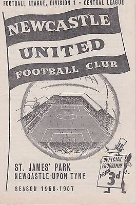 NEWCASTLE UNITED v DERBY COUNTY RESERVES ~ 13 APRIL 1957