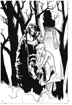 BPRD: The Dead Remembered Hellboy Original Art Cover by Karl Moline