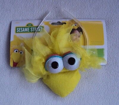 Sesame Street Big Bird Headband Costume Plush Yellow One Size Fits Adults 7+ NEW