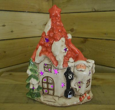 305cm Porcelain Colour Change Light Up Christmas House With