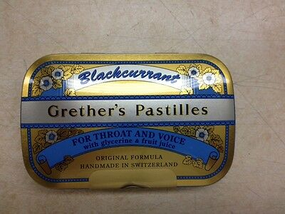 Grether's Pastilles Blackcurrant 2.125 oz. (24 Lozenges)