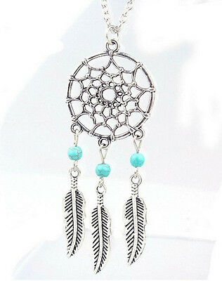 Horse & Western Jewellery Jewelry Ladies  Dreamcatcher Necklace Silver