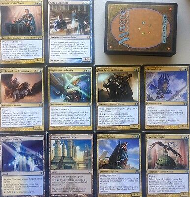 INSTANT AZORIUS Blue White Deck, 60+ Cards,  Magic Mtg READY TO PLAY