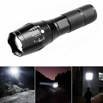 6000 Lumens XML Cree T6 LED Flashlight Zoomable Waterproof 18650/AAA Torch Lamp