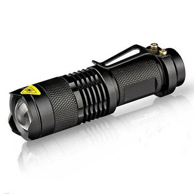2500LM Adjustable Zoomable LED Flashlight Torch Focus Light Lamp 14500
