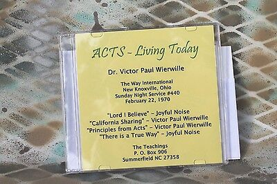 Victor Paul Wierwille: ACTS ~ Living Today CD