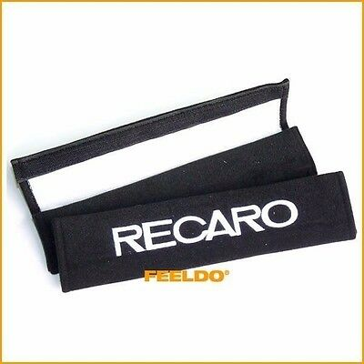 2pcs Car Auto Embroidered Seat Belt Cushion Cover Pad for RECARO
