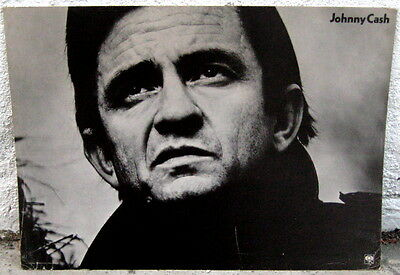 Johnny Cash mid-1970's cardboard official CBS sign poster