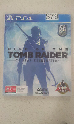 Rise of The Tomb Raider 20 Year Celebration Edition PS4 Game (NEW &SEALED)